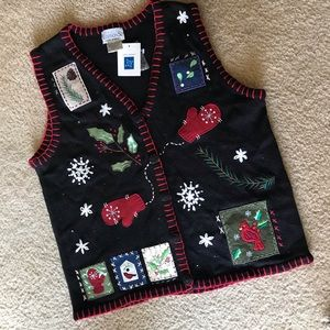 90's Basic Editions Holiday Christmas Sweater Vest